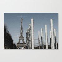 eiffel tower Canvas Prints featuring Eiffel Tower by Sébastien BOUVIER