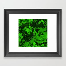Galaxy in Green Framed Art Print