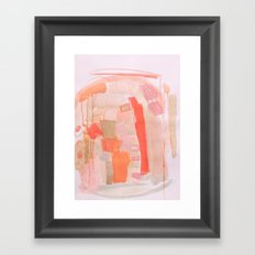 Peach and Feather Framed Art Print