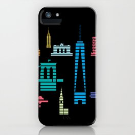 New York Skyline Black iPhone Case