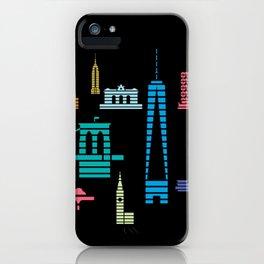 New York Skyline Black iPhone Case