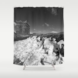 British Folly on the Hill Shower Curtain