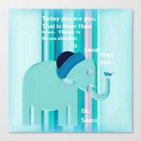dr seuss Canvas Prints featuring Dr. Seuss Quote by Laura Santeler