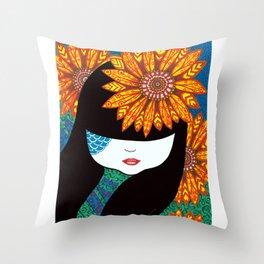 Sunny Girl Throw Pillow