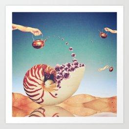 Surreal Shell Garden Art Print