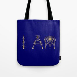 I AM in Sacred Geometry Letters Tote Bag