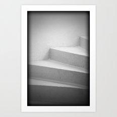 White Stairs Art Print