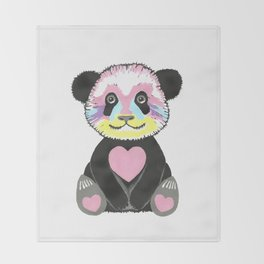 I Love Pandas Throw Blanket