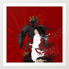 Samurai Warrior Art Print