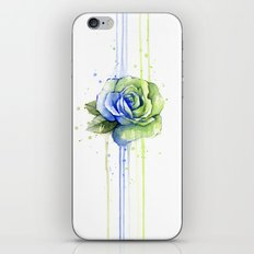 Flower Rose Watercolor Painting 12th Man Art iPhone & iPod Skin