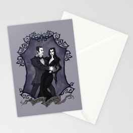 Gomez and Morticia Addams Stationery Cards