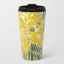 Yellow Mimosa Travel Mug