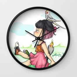 Lovely birds Wall Clock