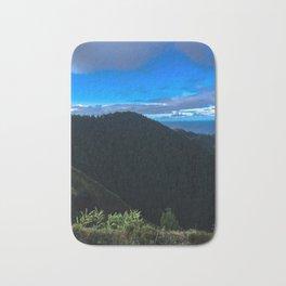 Blue Sky, Blue Sea & Green Mountain Bath Mat