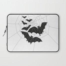 Black Bats with Spider Web Halloween Laptop Sleeve
