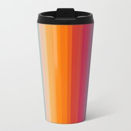 Retro Rainbow Striped Pattern Travel Mug
