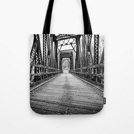Old Train Bridge Bath, NH Tote Bag