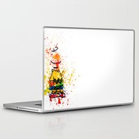 charlie brown Laptop & iPad Skins featuring Charlie Brown by benjamin james