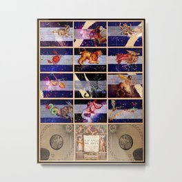 Zodiac Poster - Uranometria Metal Print