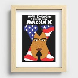 denzel squashington: malcolm x Recessed Framed Print