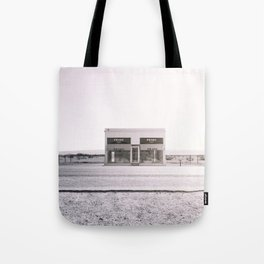 PradaMarfa - Black and White Version Tote Bag