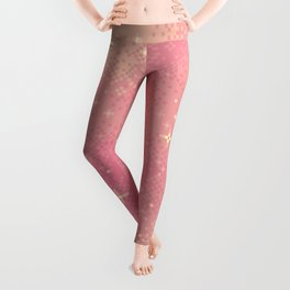 Rose Gold Galaxy Leggings