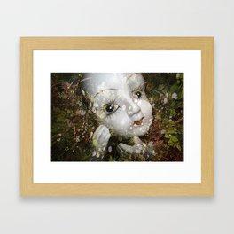 Porcelain Flora Framed Art Print
