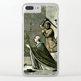 Murder of Thomas Becket Clear iPhone Case