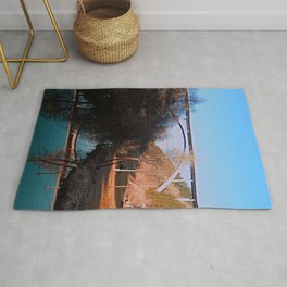 A bridge, the valley and beautiful reflections | Architectural photography Rug