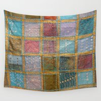 quilt Wall Tapestries featuring Indian Quilt by 83 Oranges™