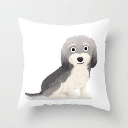"Custom ""Robbie"" Dog Throw Pillow"