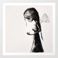 angel Art Prints featuring Angel by SannArt