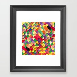 autumn circles Framed Art Print