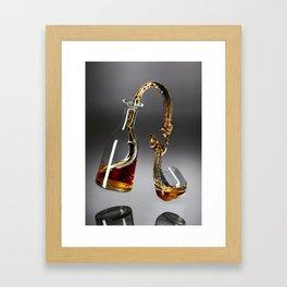 Gravity Scotch Framed Art Print