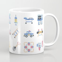 CUTE HERO JOBS / POLICE / FIREFIGHTER / DOCTOR PATTERN Coffee Mug