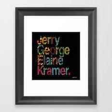 Jerry, George, Elaine & Kramer Framed Art Print