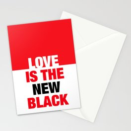 LOVE is the new black IV – Plain Stationery Cards