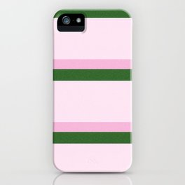 Pink Roses in Anzures 2 Stripes 4H iPhone Case