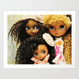 My Delicious Bliss Custom Beautiful Brown Blythe Art Dolls Art Print