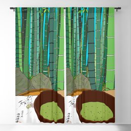 Bamboo Temple in Japan Blackout Curtain