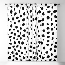 Black And White Cheetah Print Blackout Curtain