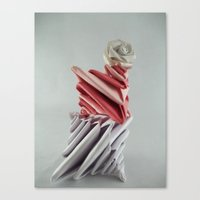 origami Canvas Prints featuring Origami by kourai