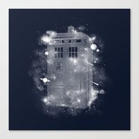 tardis Canvas Prints featuring Tardis by Zach Terrell