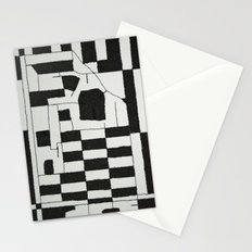 Black & White Map Stationery Cards