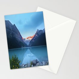 Mountains lake Stationery Cards