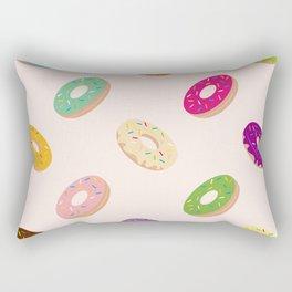 Donuts Pattern | Pastel Pink Rectangular Pillow