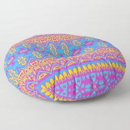 Pansexual Pride Intricate Abstract Pattern Floor Pillow