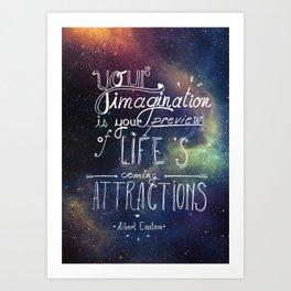 Wise Words Art Print