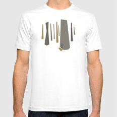 Welcome White Mens Fitted Tee MEDIUM