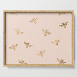 Busy Bees (Pink) Serving Tray